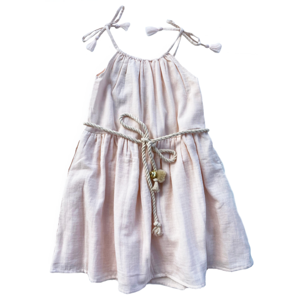 Bella & Lace Noel Dress /Belt - Sugarplum
