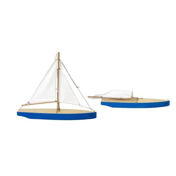 Wooden Sailing Ship - Blue