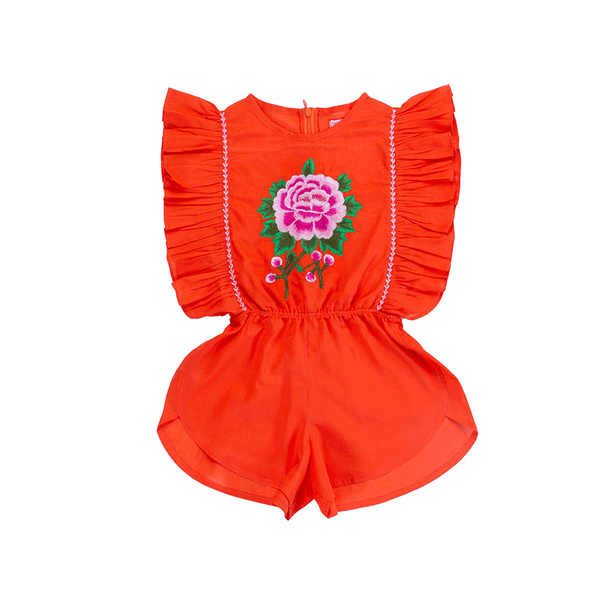 Coco & Ginger Delphine Playsuit - Paprika Rose