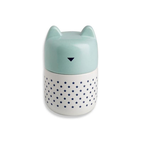 Bandjo Porcelain Canister - Blue Cat - Shorties Childrens Store