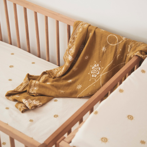 Banabae Bamboo/Org Cotton Swaddle - Celestial Gold