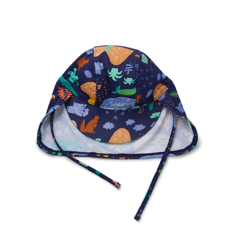 Halcyon Nights Kids Swim Hat - Beach Forest