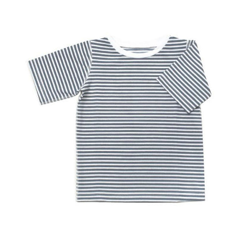 Short Sleeved Rashie in Navy Stripe