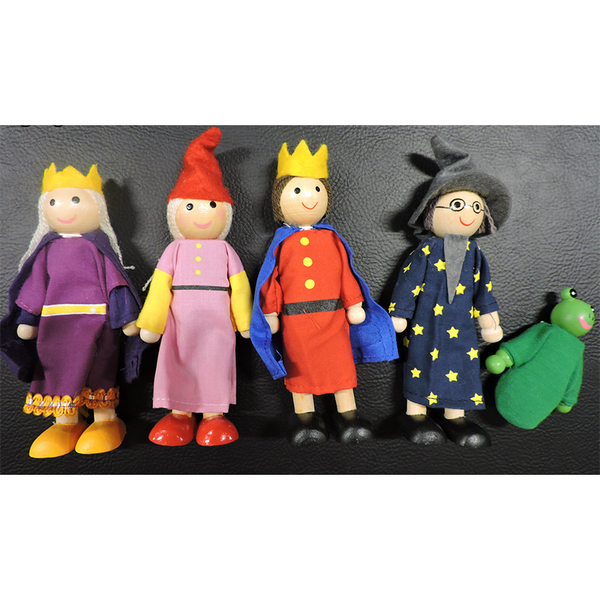 5Pc Bendable Dolls - Enchanted