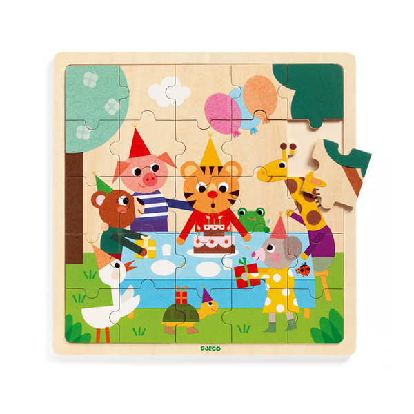 Djeco Happy Wooden Puzzle