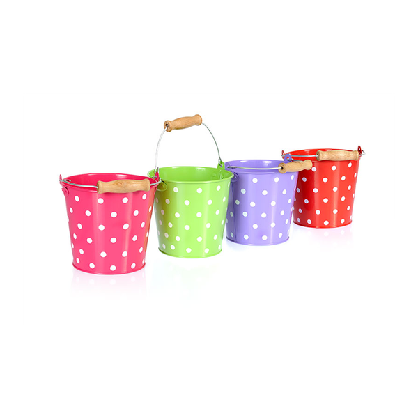 Egmont Metal Bucket - Polka Dot Assorted