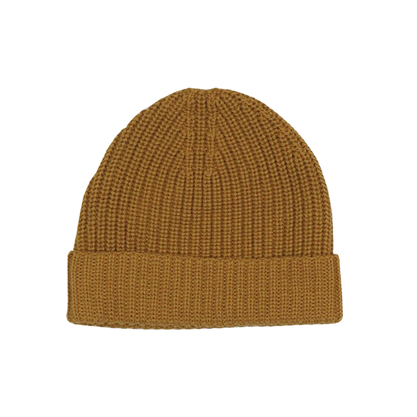 Grown Ribbed Essential Beanie - Marigold