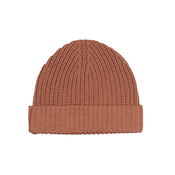 Grown Ribbed Essential Beanie - Terracotta Rose