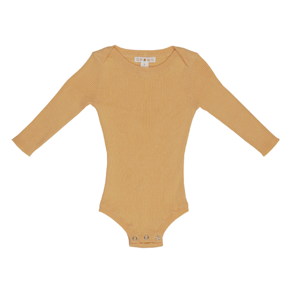 Grown Ribbed Essential Bodysuit - Dijon