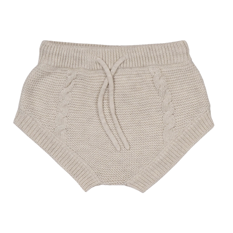 Grown Cable Knit Bloomers - Oatmeal Marle