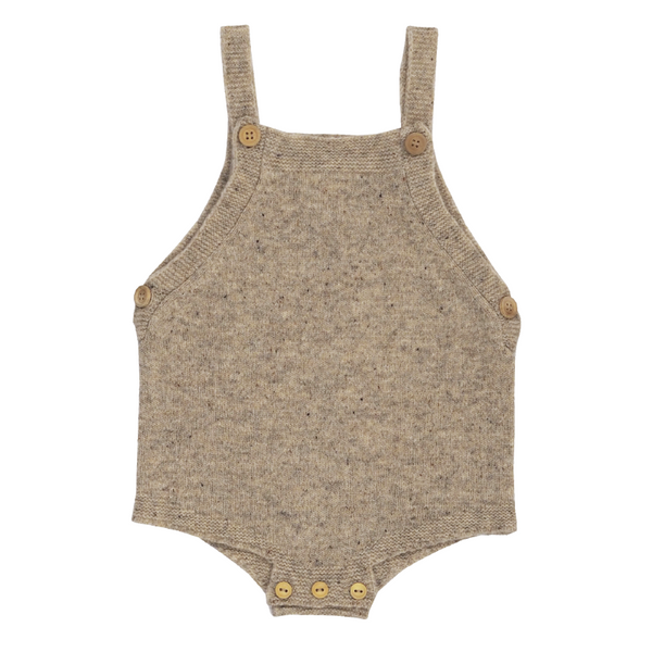 Grown Speckle Merino Romper - Stone