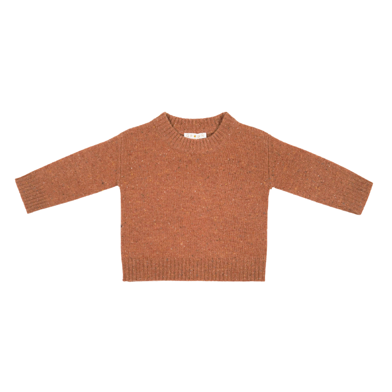 Grown Speckle Merino Pull Over - Clay