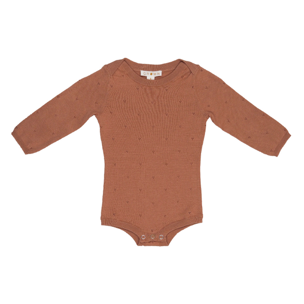 Grown Pointelle Bodysuit - Terracotta Rose