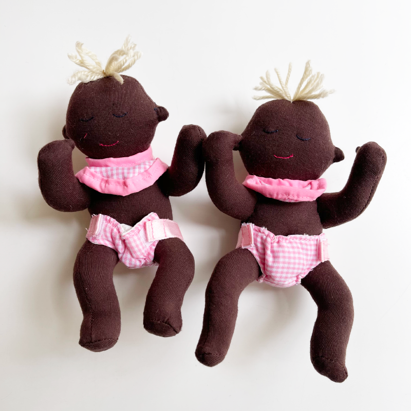 Story Telling Dolls - Twins In Carry Cot