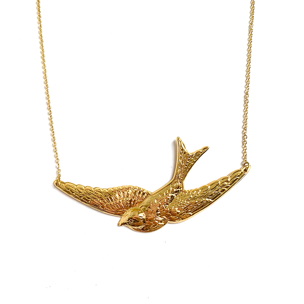 Swallow Necklace Gold - Large