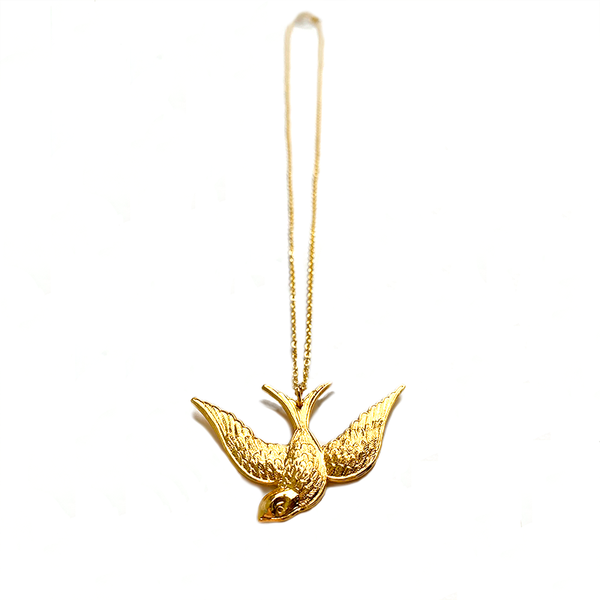Swallow Necklace Gold - Small