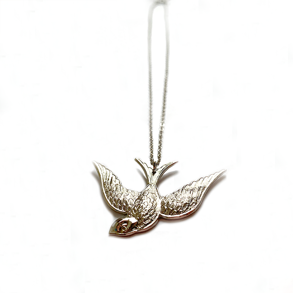 Swallow Necklace Silver - Small