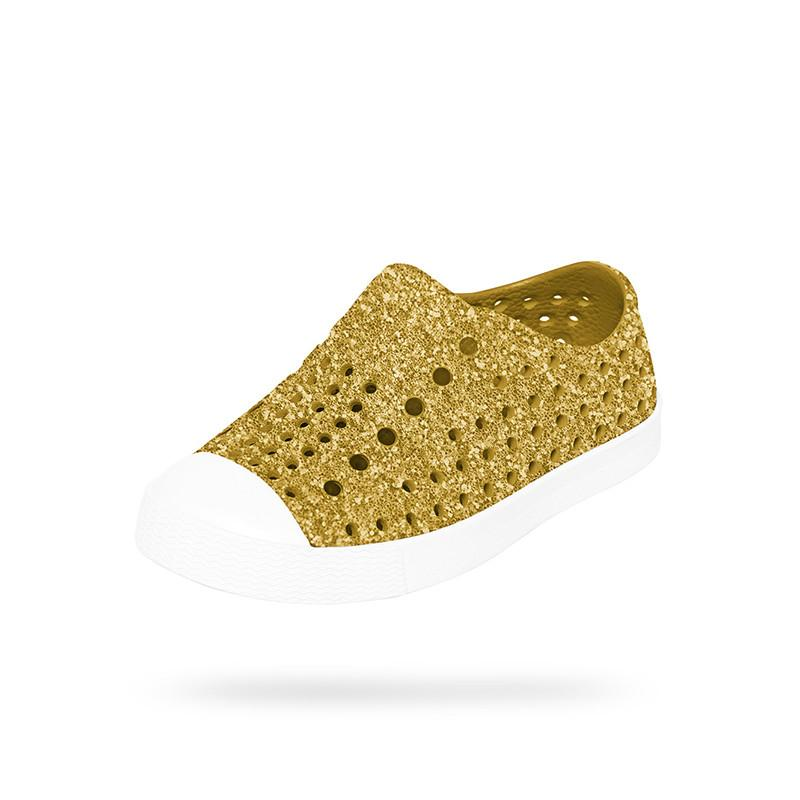 Native Jefferson Shoes - Gold Bling at Shorties kids fashion shop in Sydneys Inner West