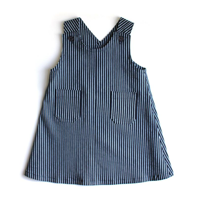 Denim Pinni - Stripe - Shorties Childrens Store