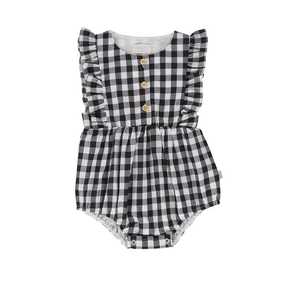 August Playsuit - Black & White Check