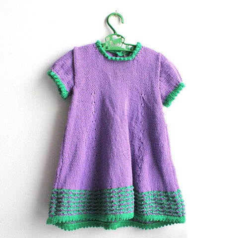 Hand Knit Dress - Purple