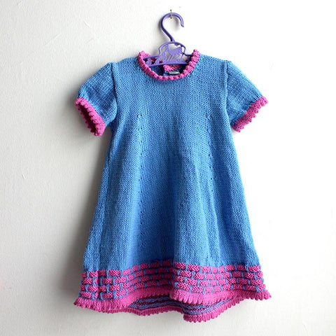 Hand Knit Dress - Blue