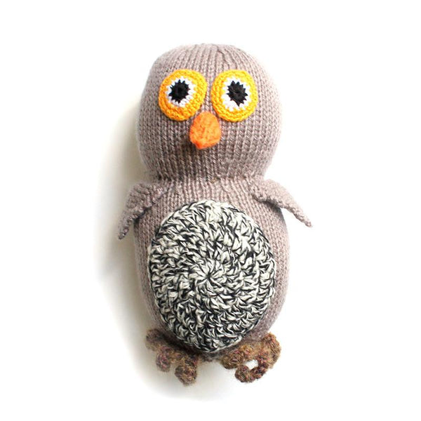 Owl - Hand Knitted Soft Toy
