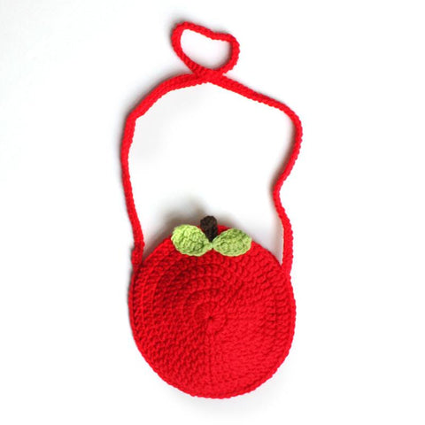 Apple Hand Knitted Handbag - Shorties Childrens Store