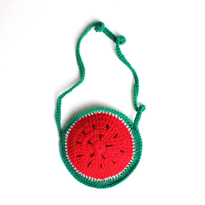 Watermelon Hand Knitted Handbag