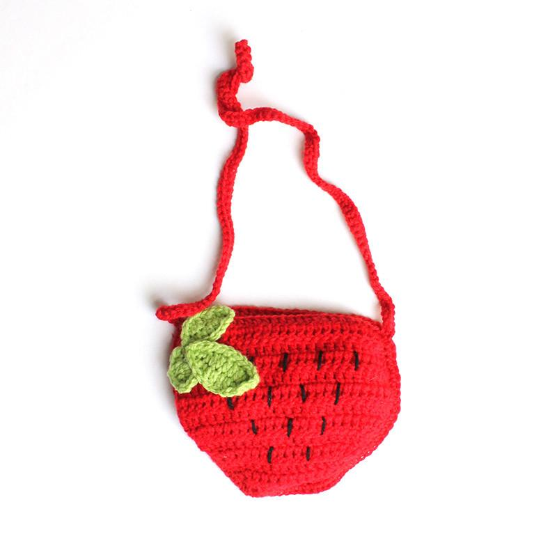 Strawberry Hand Knitted Handbag