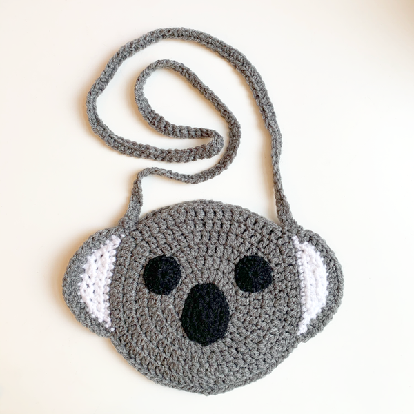 Hand Knitted Koala Handbag - Dark Grey