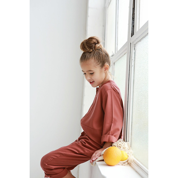 We Roam Tencel Jumpsuit - Rose