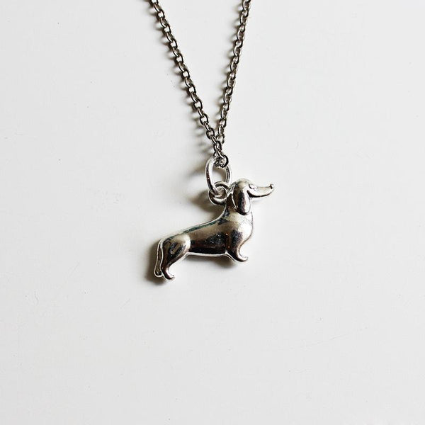 Shorties Bling Necklace - Sausage Dog