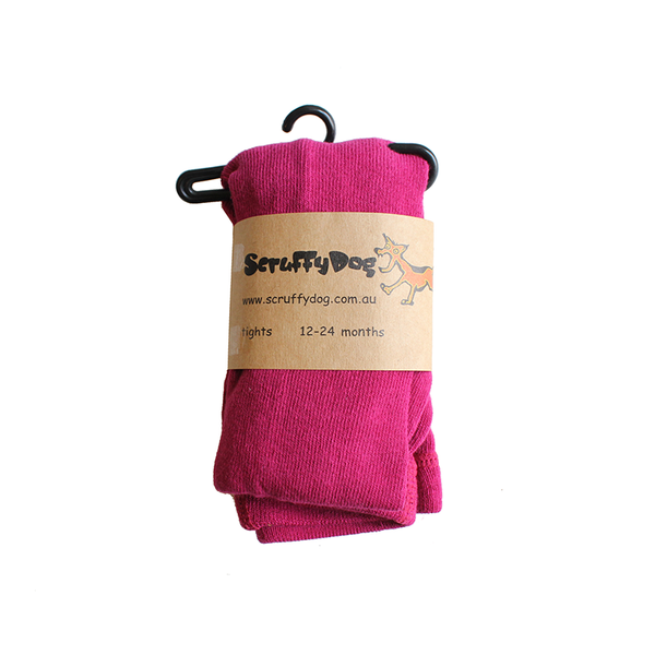 Scruffy Dog Tights - Raspberry
