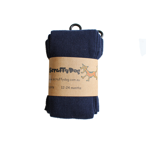 Scruffy Dog Tights - Navy