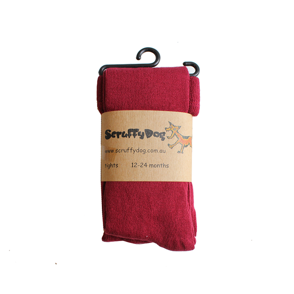 Scruffy Dog Tights - La Rouge