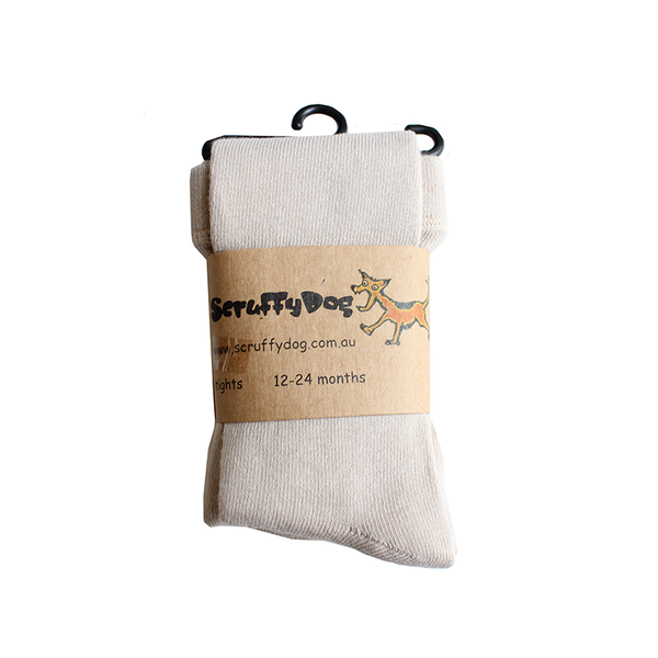 Scruffy Dog Tights - Oatmeal