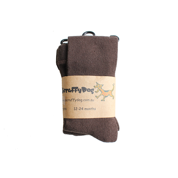 Scruffy Dog Tights - Brown