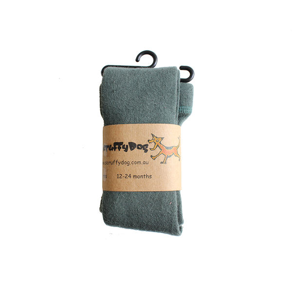 Scruffy Dog Tights - Sage Green