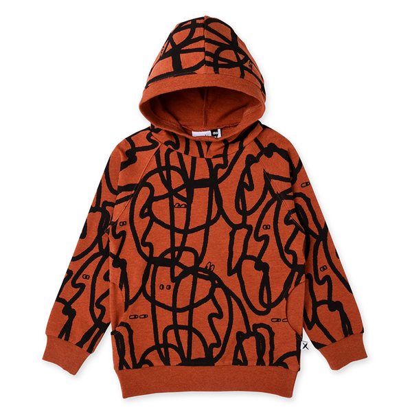 Minti Messy Marker Pocket Hood - Burnt Orange Marle