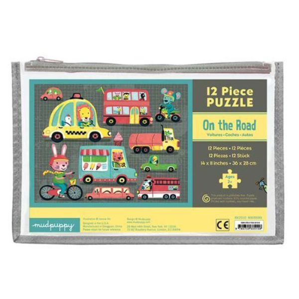 Mudpuppy 12 piece puzzle - On The Road