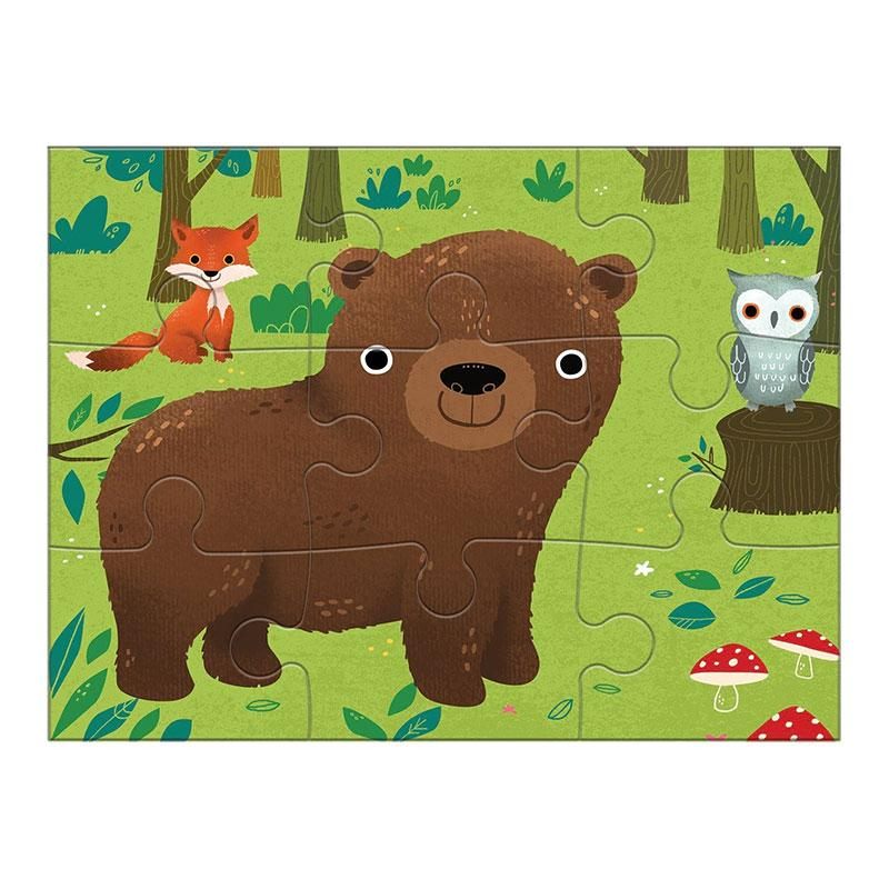 Mudpuppy 4 in A Box Puzzle - Animals