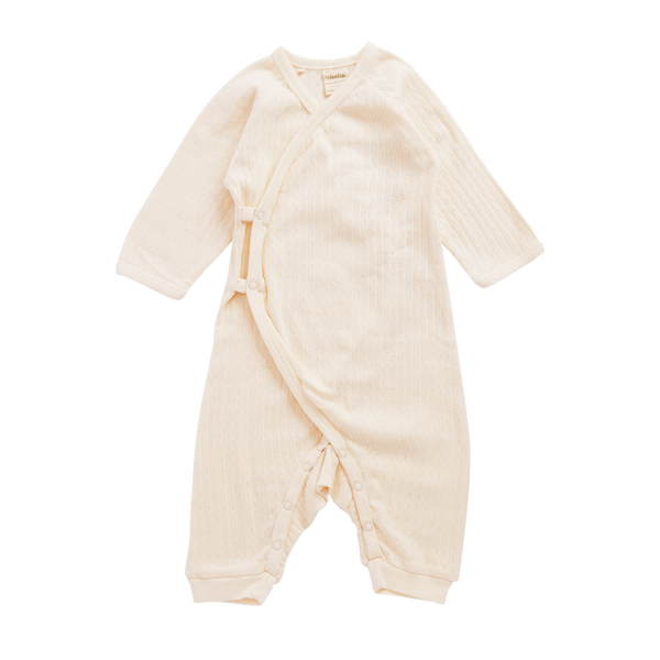 Naturebaby Kimono Stretch and Grow - Natural Pointelle