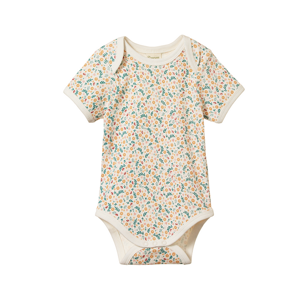 Nature Baby SS Bodysuit - June's Garden