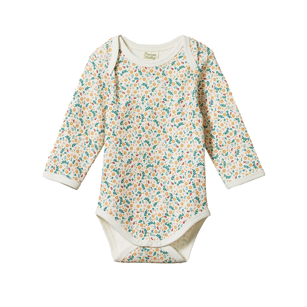 Nature Baby LS Bodysuit - June's Garden