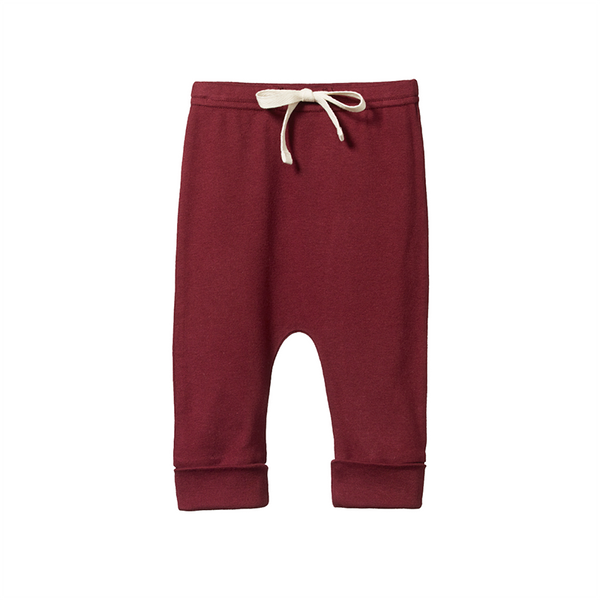 Nature Baby Drawstring Pants - Elderberry