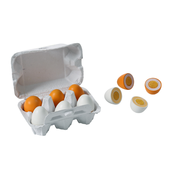 Wooden Egg 6 Pack Velcro Joined
