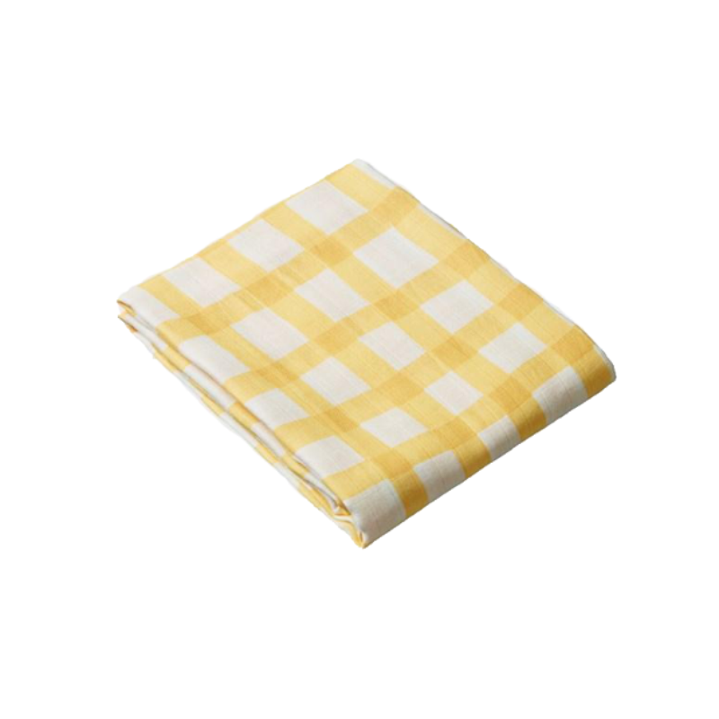 Nature Baby Muslin Wrap - Lemon Gingham