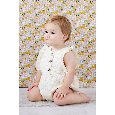 August Playsuit - Lemon Brodiere