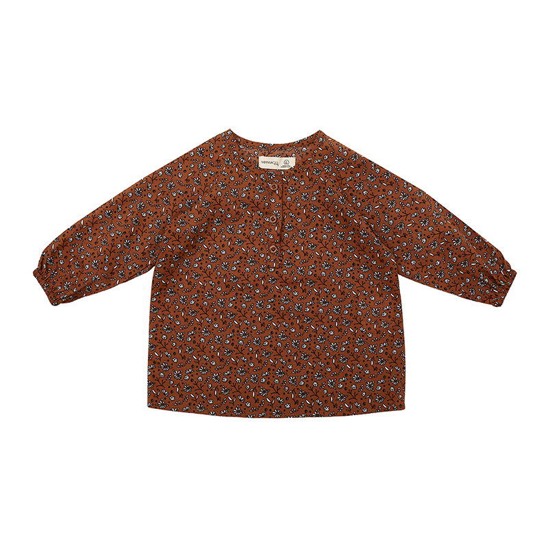 Miann And Co Flowy Top - Rust Floral